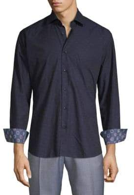 Contrast Button-Down Shirt