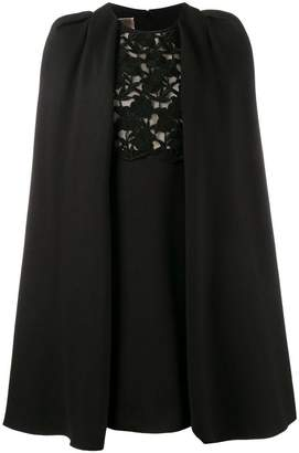 Giambattista Valli macrame lace cape dress
