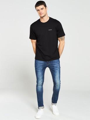 Chest Logo Print T-Shirt - Black