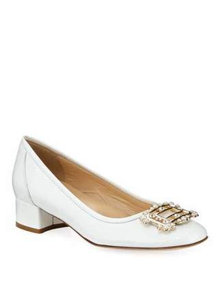 Sesto Meucci Heda Pearly Embellished Pumps, White