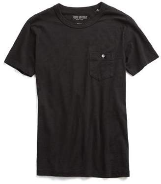Todd Snyder Made in L.A. Pocket -Shirt in Black