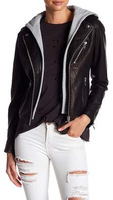 Doma Bruce Hooded Genuine Leather Jacket $915 thestylecure.com