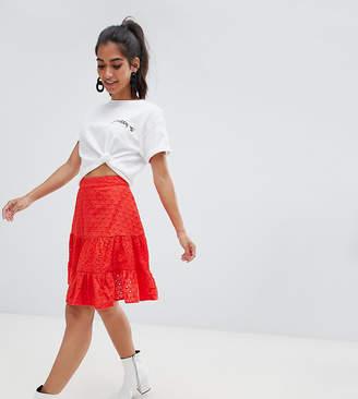 Asos DESIGN Petite broderie mini skirt