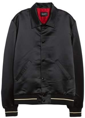 The Kooples Regular Fit Satin Bomber Jacket