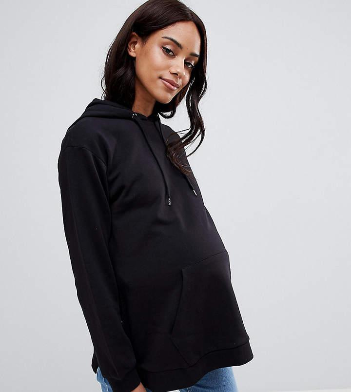 DESIGN Maternity – Kapuzenpullover mit seitlichem Schlitz