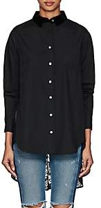 Sacai Women's Cotton Poplin & Lace Blouse - Black, Navy