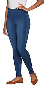 Denim & Co. Distressed Pull-On Stretch DenimLeggings