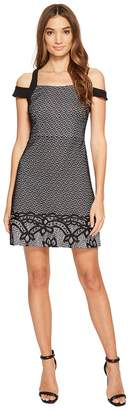 Jessica Simpson Border Deco Bonded Lace Dress Women's Dress