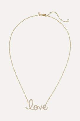 Sydney Evan Big Love 14-karat Gold Diamond Necklace