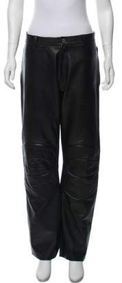 John Richmond Leather Moto Pants
