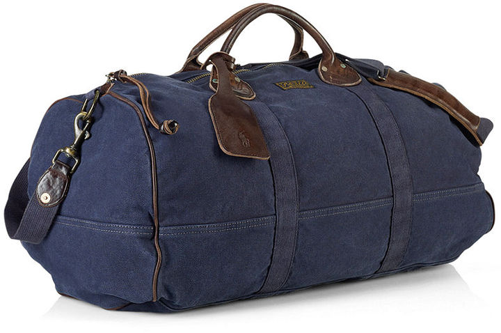 Polo Ralph Lauren Bag, Canvas Bedford Duffle Bag