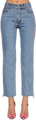 MSGM Mid Rise Slim Fit Jeans W/ Side Bands