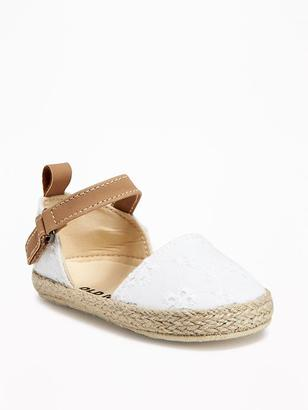 Eyelet Espadrilles for Baby $12.94 thestylecure.com