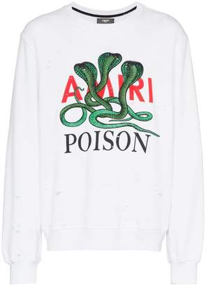 Amiri Poison cotton sweatshirt