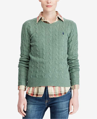 Polo Ralph Lauren Cable Crew-Neck Wool/Cashmere Blend Sweater