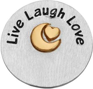 """Blue La Rue Silver-Plated & 14k Gold-Plated """"Live Laugh Love"""" Coin Charm"""