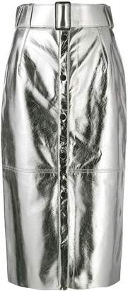 MSGM button-up pencil skirt