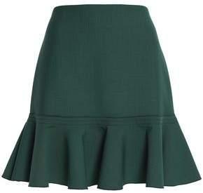 Victoria Beckham Victoria Fluted Crepe Mini Skirt