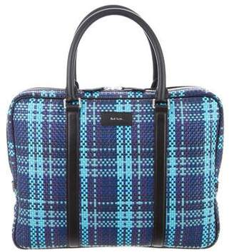 Paul Smith Leather Crocheted Briefcase