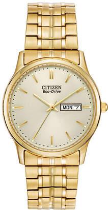 Citizen Eco-Drive Mens Gold-Tone Dress Watch BM8452-99P