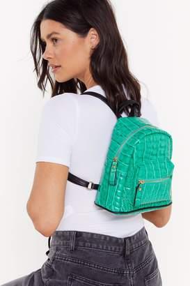 Nasty Gal WANT For Croc Sake Mini Backpack