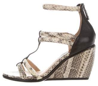 Rachel Zoe Nancy Snakeskin Wedge Sandals