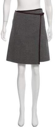DKNY Wool & Cashmere-Blend Knee-Length Skirt