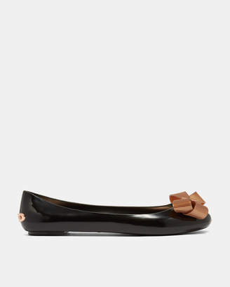 Ted Baker LARMIAR Bow detail jelly pumps
