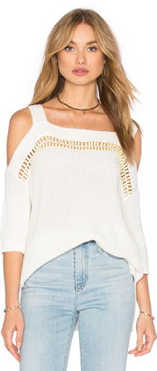 Ella Moss Jordin Cold Shoulder Top $255 thestylecure.com