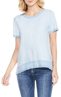 Women's Two By Vince Camuto Faded Chambray Tee $89 thestylecure.com