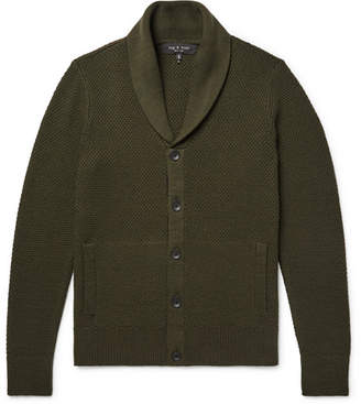 Rag & Bone Cardiff Merino Wool and Cotton-Blend Cardigan - Men - Army green