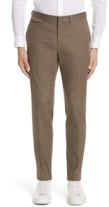 Z Zegna Flat Front Stretch Cotton Trousers