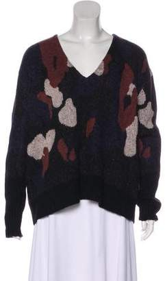 Thakoon Wool-Blend Camo Print Sweater w/ Tags