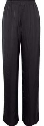 Alexander Wang Satin-Jacquard Straight-Leg Pants
