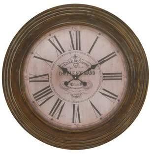 Wayfair Oversized Wood 31 Wall Clock