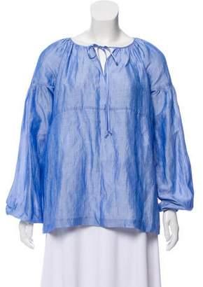 Co Oversize Woven Blouse
