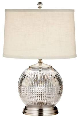Waterford Lismore Diamond Lead Crystal & Chrome Table Lamp
