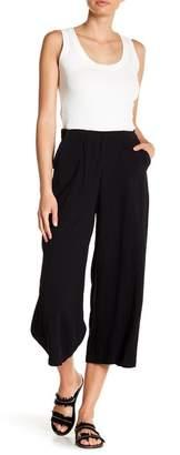 GOOD LUCK GEM High Waist Linen Culotte Pants