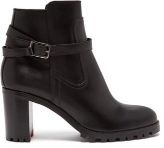 Christian Louboutin Trapeurdekoi 70 Leather Ankle Boots - Womens - Black