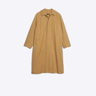 Balenciaga Longline cotton twill coat