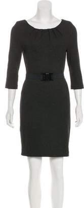 Trina Turk Belted Bateau Neck Dress