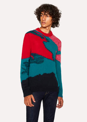 Paul Smith Men's Multi-Coloured Camouflage Mohair-Blend Sweater