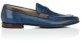 Barrett Men's Apron-Toe Burnished Leather Penny Loafers-Blue