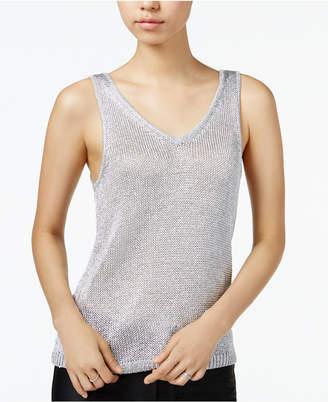 Bar III Metallic Sweater Tank Top