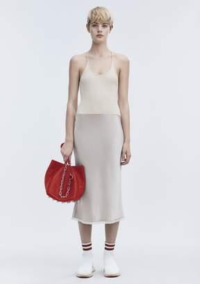 Alexander Wang SATIN COMBO DRESS Long Dress