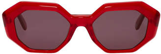 Garrett Leight Red Jacqueline Sunglasses