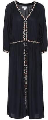 Velvet Lydia embroidered midi dress