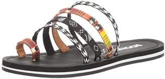 Rocket Dog Women's Puerto Mali Cotton/Milan PP Flat Sandal