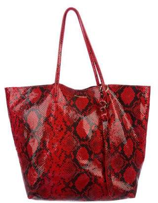 Alexander McQueen Embossed Leather Cabas Tote