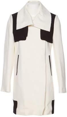 CNC Costume National Ecru Wool Coats